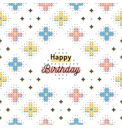 Happy birthday creative card trendy geometric vector
