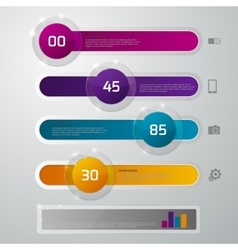 infographics glass slider vector image