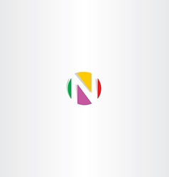 letter n colorful logo circle vector image