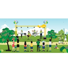 Music in the Park vector image