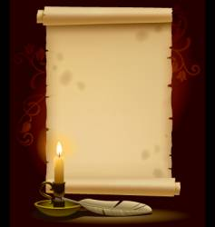 old parchment with a light vector image vector image