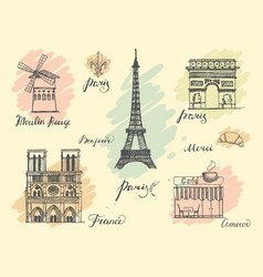 Paris sketches collection vector