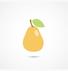 pear icon on white vector image vector image