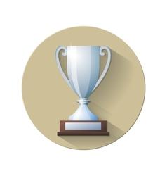 Silver Champions Cup Icon vector image vector image