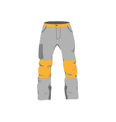 snowboarding pants flat icon isolated vector image vector image