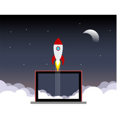 Space rocket launch vector