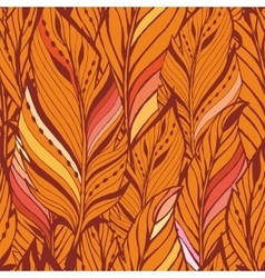 Texture with feathers in orange vector