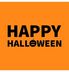 Happy halloween lettering text banner with sad vector
