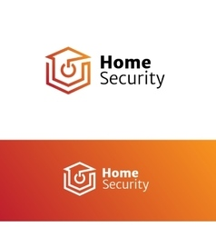 Home security service minimalistic logo vector