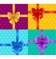 Present card background or packaging set vector