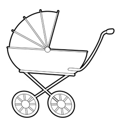 Baby carriage icon isometric 3d style vector