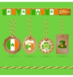 Set of St Patrick Day tags vector image