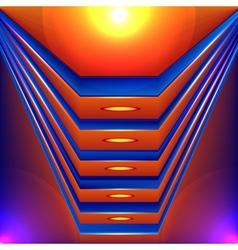 Colorful futuristic background vector