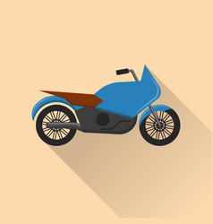 flat style motorcycle icon vector image