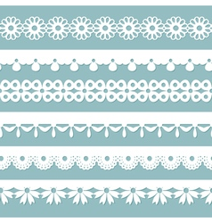 Seamless laces on the blue background vector