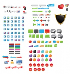 web assortment vector image
