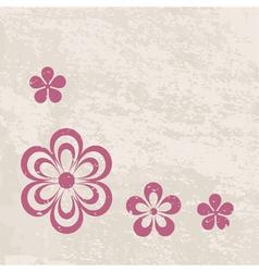 Grungy floral border vector