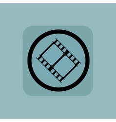 Pale blue movie sign vector