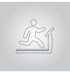 Running treadmill vector image