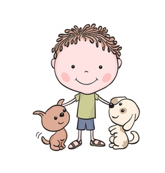 Boy puppies 1 vector