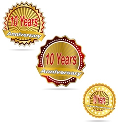 Label decoration ceremony anniversary sign symbol vector