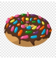 Cartoon doughnut sign vector