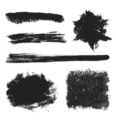 Black grunge brushes set 2 vector