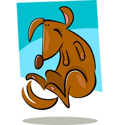 doodle dog vector image
