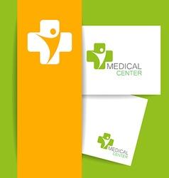 medical center logo template vector image