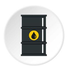 Black oil barrel icon circle vector