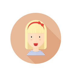 blond girl with glasses and character avatar vector image vector image