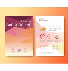 Booklet magazine poster flyer abstract banner vector image vector image