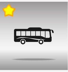 Bus icon blue on a gray background vector