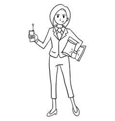 business women styles character hand draw vector image vector image