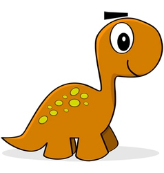 Cartoon dinosaur vector image vector image