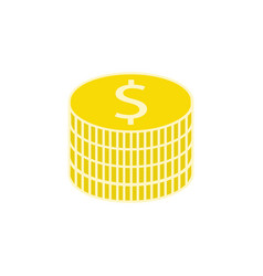 coins flat icon finance and business vector image