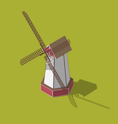 dutch windmills isometric vector image