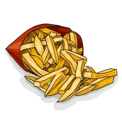 French fry color picture vector