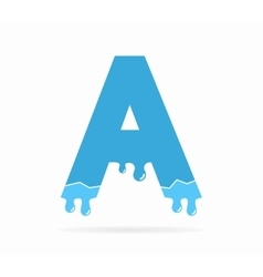 Letter A logo or symbol icon vector image vector image