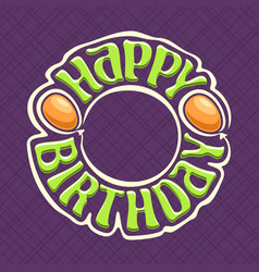 Logo for happy birthday vector