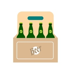Packaging with beer icon vector image vector image