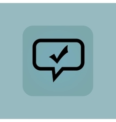 Pale blue tick mark message vector image vector image