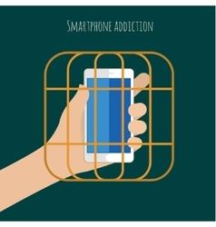 Smartphone addiction vector image