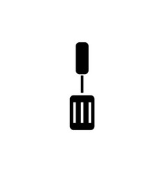 spatula icon black sign on vector image