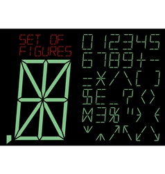 special symbols and digitals vector image vector image