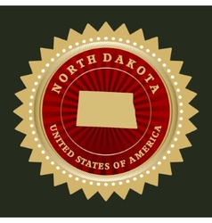 Star label north dakota vector