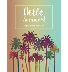 Summer Banner for Travel with Palms vector image vector image