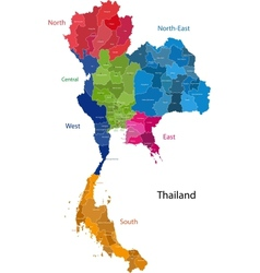 Thailand map vector image vector image
