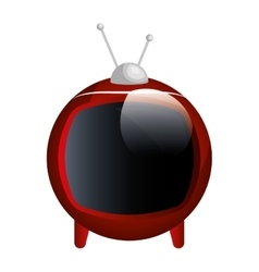 Tv old device isolated icon vector
