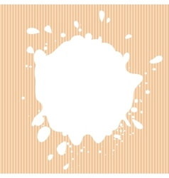 Isolated white color blotch logo milk vector